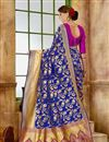 photo of Traditional Fancy Saree In Art Silk Fabric Blue