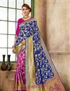 image of Art Silk Fabric Function Wear Fancy Saree In Blue
