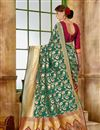photo of Traditional Fancy Saree In Art Silk Fabric Green