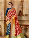 image of Traditional Fancy Saree In Art Silk Fabric Red