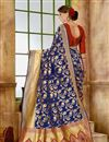 photo of Function Wear Fancy Blue Color Saree In Art Silk Fabric