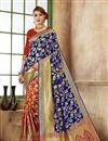 image of Function Wear Fancy Blue Color Saree In Art Silk Fabric