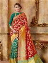 image of Red Function Wear Fancy Saree In Art Silk Fabric