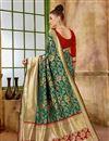 photo of Fancy Art Silk Function Wear Designer Saree In Green