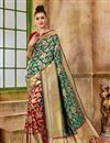 image of Fancy Green Traditional Designer Saree In Art Silk