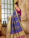photo of Function Wear Designer Blue Fancy Saree In Art Silk