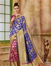 image of Function Wear Traditional Blue Fancy Saree In Art Silk