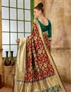 photo of Function Wear Designer Red Fancy Saree In Art Silk