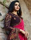 photo of Prachi Desai Sangeet Wear Rani Saree In Art Silk Fabric With Embroidery Work