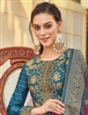 photo of Jacquard Fabric Party Wear Readymade Anarkali Salwar Suit