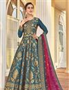 image of Jacquard Fabric Party Wear Readymade Anarkali Salwar Suit