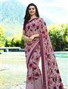 image of Prachi Desai Georgette Lavender Daily Wear Printed Saree