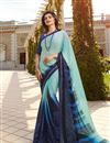 image of Prachi Desai Fancy Fabric Light Cyan Festive Wear Saree With Printed