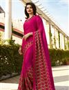 image of Prachi Desai Rani Color Regular Wear Fancy Fabric Printed Saree