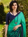 photo of Prachi Desai Fancy Fabric Puja Wear Printed Saree In Light Teal