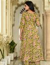 photo of Fancy Fabric Digital Printed Yellow Festive Wear Kurti With Palazzo
