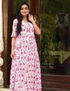 image of Fancy Fabric Festive Wear Digital Printed Kurti With Palazzo In White Color