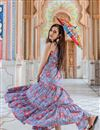 photo of Blue Color Party Wear Indo Western Readymade Gown In Fancy Fabric