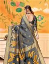 photo of Art Silk Grey Festive Wear Fancy Saree With Weaving Work