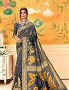 image of Art Silk Grey Festive Wear Fancy Saree With Weaving Work