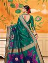 photo of Party Wear Art Silk Fancy Weaving Work Saree In Teal