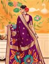 photo of Weaving Work On Art Silk Magenta Function Wear Saree With Marvelous Blouse