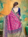 photo of Banarasi Silk Fabric Designer Weaving Work Saree In Rani Color With Attractive Blouse