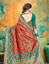 photo of Weaving Work On Banarasi Silk Fabric Red Color Function Wear Saree With Marvelous Blouse