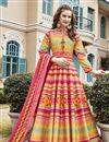 image of Multi Color Printed Readymade Anarkali Salwar Kameez