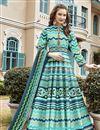 image of Burgundy Color Sangeet Wear Printed Anarkali Suit With Leggings