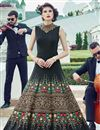 image of Black Color Banglori Silk Fabric Embroidered Function Wear Readymade Anarkali Salwar Kameez