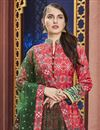 photo of Eid Special Party Wear Designer Red Patola Style Printed Art Silk Readymade Anarkali Dress