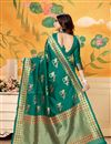 photo of Occasion Wear Art Silk Weaving Work Saree In Teal With Designer Blouse