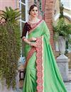 image of Designer Function Wear Fancy Embroidered Saree In Art Silk