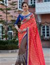 image of Crimson Designer Embroidered Georgette Fancy Function Wear Saree