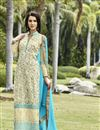 image of Beige Pakistani Style Long Georgette Salwar Suit
