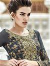 photo of Grey Georgette Designer Pakistani Salwar Suit