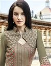 photo of Mehendi Green Georgette Long Pakistani Suit