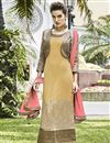 image of Mustard Pakistani Style Georgette Salwar Kameez