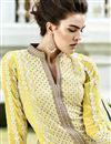 photo of Yellow Georgette Pakistani Pattern Designer Dress