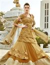 photo of Fabulous Beige 3 Piece Designer Lehenga Choli