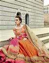 photo of Alluring Orange-Pink Color Silk Designer Lehenga