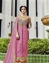 image of Pink Art Silk Embroidered Salwar Kameez