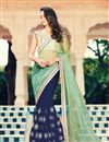 image of Enchanting Embroidered Georgette And Net Saree