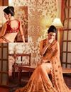 photo of Charismatic Orange Color Embroidered Saree