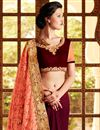 photo of Wedding Wear Embroidered Net And Georgette Saree