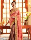 image of Wedding Wear Embroidered Net And Georgette Saree