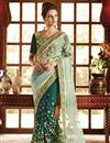 image of Sea Green Wedding Wear Embroidered Saree-59