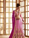 picture of Pink Net-Georgette Embroidered Designer Saree-61