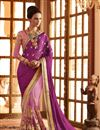 image of Pink Net-Georgette Embroidered Designer Saree-61